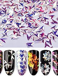economico -6pcs Glitter Con lustrini 6 colori manicure Manicure pedicure Classico Quotidiano