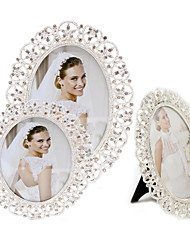cheap -Fashion Exquisite Metal Picture Frame Oval Hollow Silver Plated Photo Frame House Decor XL011-2