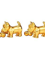 baratos -Animal Prata Dourado Botões de Punho Latão Pedaço de Platina Chapeado Dourado Jóias de fantasia Lazer Diário Rua Homens Jóias de fantasia