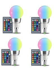 economico -4 pz 3 w e14 / e27 rgb led lampadina 16 colori magic led night light dimmerabile luce della fase di controllo remoto ac85-265 v