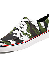 cheap -Men's Shoes Rubber Spring Fall Comfort Sneakers Ribbon Tie for Outdoor Green