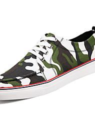 preiswerte -Herrn Schuhe Gummi Frühling Herbst Komfort Sneakers Band-Bindung für Draussen Grün