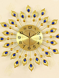 cheap -Modern Style Metal Round Indoor/Outdoor,AA Wall Clock