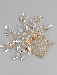 cheap -Acrylic Alloy Hair Combs with Rhinestone Crystal 1pc Wedding Special Occasion Headpiece