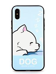 Недорогие -Кейс для Назначение Apple iPhone X / iPhone 8 Pluss / iPhone 8 Рельефный / С узором Кейс на заднюю панель С собакой / Слова / выражения / Мультипликация Твердый ПК