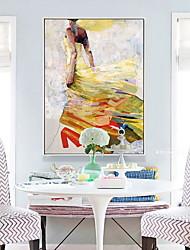 Недорогие -Абстракция Масляные картины Предметы искусства,Сплав материал с рамкой For Украшение дома Предметы искусства в рамках Спальня Столовая