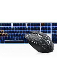 Недорогие -dareu проводная механическая клавиатура беспроводная мышь черные переключатели шесть ключей 1600dpi