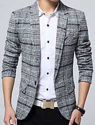 cheap -Men's Cotton Blazer - Plaid