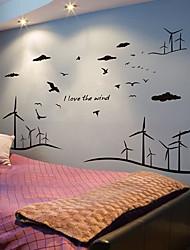 billige -abstrakt 3D Vægklistermærker Fly vægklistermærker Dekorative Mur Klistermærker,Papir Hjem Dekoration Vægoverføringsbillede Væg