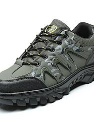 Masculino sapatos Borracha Primavera Outono Conforto Tênis Aventura Botas Curtas / Ankle Cadarço de Borracha para Cinzento Verde