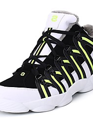 cheap -Men's Shoes Rubber Winter Fall Comfort Athletic Shoes Walking Shoes Booties/Ankle Boots Ribbon Tie for Outdoor Black/Green Black/White