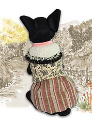 preiswerte -Hund Pullover Overall Kleider Hundekleidung Stilvoll warm halten Freizeit Krüwelle Gelb Kostüm Für Haustiere