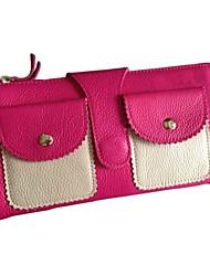 preiswerte -Damen Taschen Leder Unterarmtasche Knöpfe / Tasche für Büro & Karriere Rote / Fuchsia