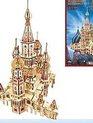 cheap -Wooden Puzzles Wood Model Model Building Kits House Birthday Valentine's Day Masquerade Fashion High Quality Russian 5 to 7 Years 8 to 13