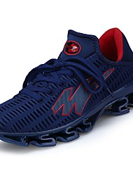 cheap -Men's Shoes PU Tulle Spring Fall Comfort Athletic Shoes Running Shoes for Athletic Casual Black Gray Blue