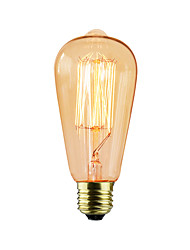 cheap -40w e27 edison ST64 retro light bulb (220-240V) High Quality