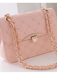 cheap -Women Bags PU Crossbody Bag Buttons for Casual All Season Black Blushing Pink Beige Purple Fuchsia