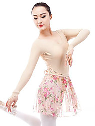cheap -Ballet Leotards Women's Performance Spandex Gore Long Sleeve Natural Leotard