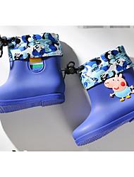 preiswerte -Mädchen Schuhe PVC Leder Winter Herbst Regenstiefel Komfort Stiefel für Normal Grün Blau Rosa