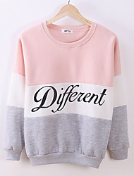 cheap -Women's Plus Size Long Sleeves Long Sweatshirt - Letter, Print
