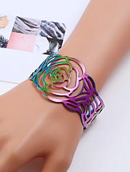 cheap -Women's Colorful Cuff Bracelet Bracelet - Colorful Fashion Flower Rainbow Bracelet For Birthday Gift