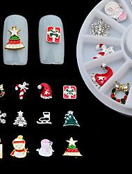 abordables -Adornos Joyería de uñas Herramientas DIY Estilo artístico Copo Moda Navidad Alta calidad Diario Nail Art Design
