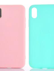 economico -Per iPhone X iPhone 8 iPhone 7 iPhone 7 Plus iPhone 6 Custodie cover Other Custodia posteriore Custodia Tinta unica Morbido TPU per Apple
