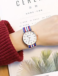 cheap -Men's Women's Casual Watch Wrist watch Chinese Quartz Casual Watch PU Band Casual Cool Minimalist White Red Green Pink Navy Clover Sky