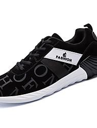 Masculino sapatos Borracha Primavera Outono Conforto Tênis Caminhada Botas Curtas / Ankle Cadarço de Borracha para Preto Cinzento