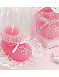 cheap -Birthday candles baby shoes modeling craft candles men and women creative gift