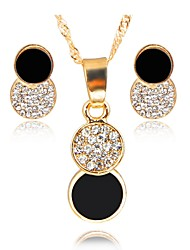 cheap -Women's Jewelry Set - Gold Plated Simple, Fashion Include Bridal Jewelry Sets Black For Wedding / Evening Party