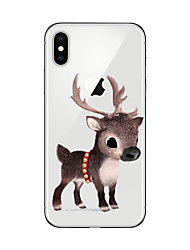 economico -Custodia Per Apple iPhone X iPhone 8 Plus iPhone 7 iPhone 6 Custodia iPhone 5 Ultra sottile Fantasia/disegno Custodia posteriore Natale