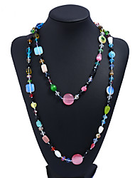 cheap -Women's Opal Chain Necklace  -  Casual Fashion Geometric Rainbow Necklace For Daily Formal