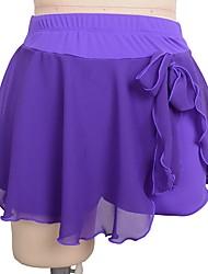 abordables -Robe de Patinage Artistique Femme Patinage Jupes Noir / Rouge / Violet Spandex Non Elastique Utilisation / Exercice Tenue de Patinage