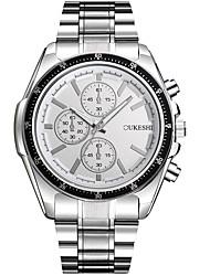 Pánské Módní hodinky Náramkové hodinky čínština Křemenný Voděodolné Nerez Kapela Na běžné nošení Stříbro