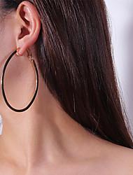 Недорогие -Жен. Серьги-слезки Серьги-кольца - На каждый день Мода Золотой Серебряный Овал Серьги Назначение Карнавал Для улицы