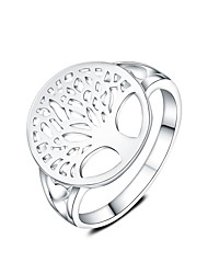 cheap -Women's Statement Ring Fashion Silver Plated Tree of Life Costume Jewelry Daily