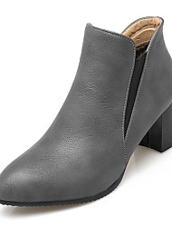 cheap -Women's Shoes Leatherette Winter Fall Fashion Boots Bootie Boots Block Heel Pointed Toe Booties/Ankle Boots for Dress Office & Career