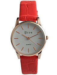 cheap -Women's Fashion Watch Japanese Quartz Water Resistant / Water Proof Casual Watch Genuine Leather Band Casual Red Navy