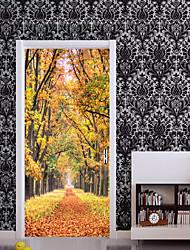 abordables -Paysage A fleurs/Botanique Stickers muraux Autocollants avion Autocollants muraux 3D Autocollants muraux décoratifs, Papier Vinyle