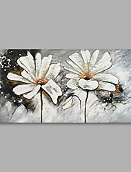 Недорогие -Hang-роспись маслом Ручная роспись - Цветочные мотивы / ботанический Modern холст
