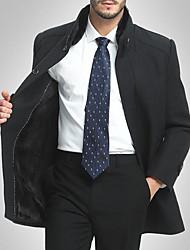 Pánské Jednobarevné Denní nošení Jednoduchý Kabát-Podzim Bavlna Akryl Jiné Kulatý Dlouhý rukáv Standardní