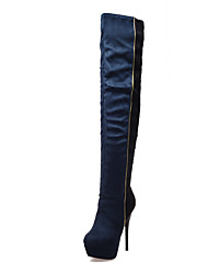 cheap -Women's Shoes Nubuck leather Fleece Winter Fall Fashion Boots Boots Stiletto Heel Round Toe Over The Knee Boots for Wedding Party &