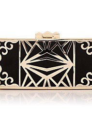 cheap -Women's Bags Polyester Metal Evening Bag Buttons for Wedding Event/Party All Seasons Gold Black