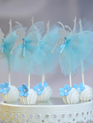 cheap -Cake Topper New Baby Birthday Party/Evening Lace Cardboard Paper Party Birthday with Laces 1 OPP