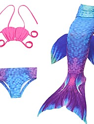 cheap -The Little Mermaid Skirt Halloween Festival / Holiday Halloween Costumes Purple / Red Mermaid Halloween