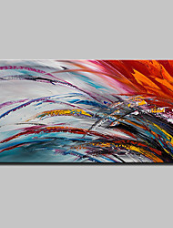 cheap -Oil Painting Hand Painted - Abstract Simple Modern Canvas