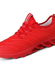 cheap -Men's Shoes Rubber Spring Fall Comfort Athletic Shoes Running Shoes Booties/Ankle Boots Ribbon Tie for Outdoor Black/Red Red Black White