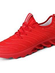 Masculino sapatos Borracha Primavera Outono Conforto Tênis Corrida Botas Curtas / Ankle Cadarço de Borracha para Branco Preto Vermelho