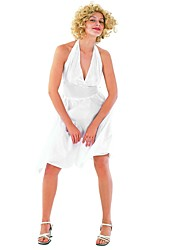 Marilyn Monroe Années 50 Costume Femme Costume de Cosplay Blanc Vintage Cosplay Polyester Sans Manches Accueil froid Mi-long